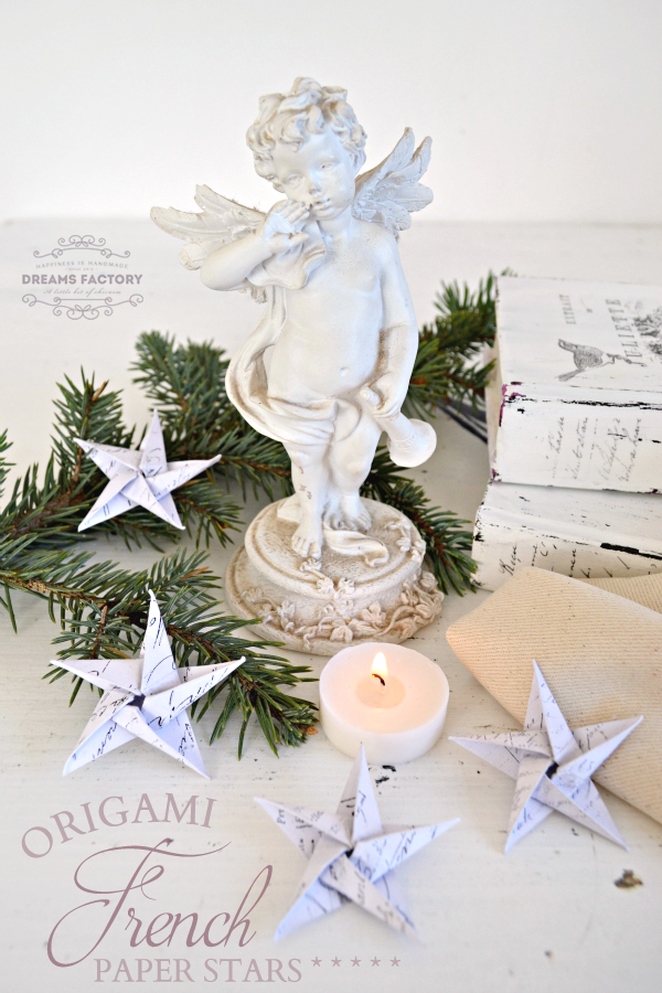 DIY {Origami} French Paper Stars from Dreams Factory