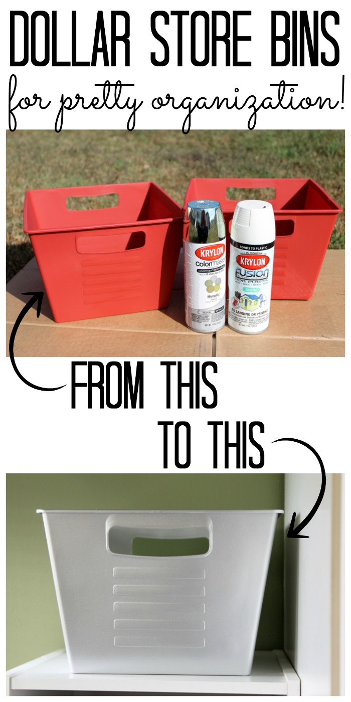 Makeover Dollar Store Bins from The Country Chic Cottage