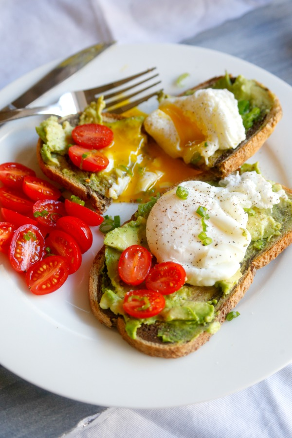 Poached Eggs on Avocado Toast from Jordan's Onion