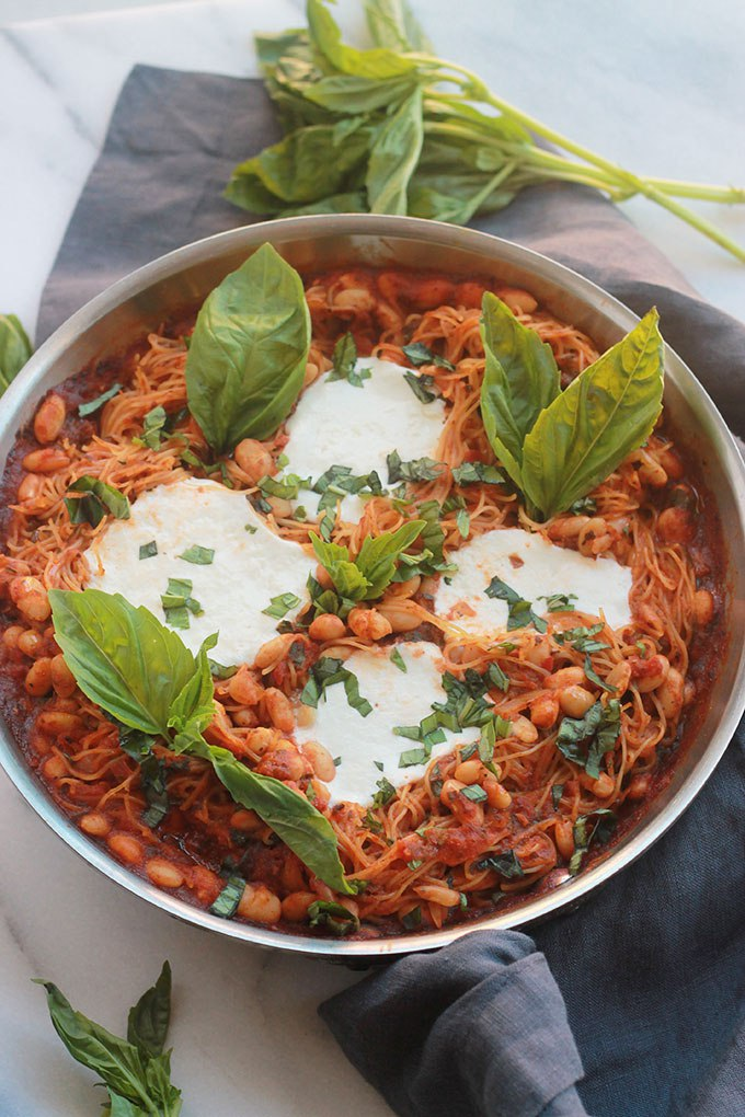 One-Pot Pasta with Buratta from The Whole Serving