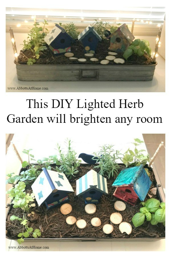 DIY Indoor Herb Garden with Mini LED Lights from Abbotts at Home