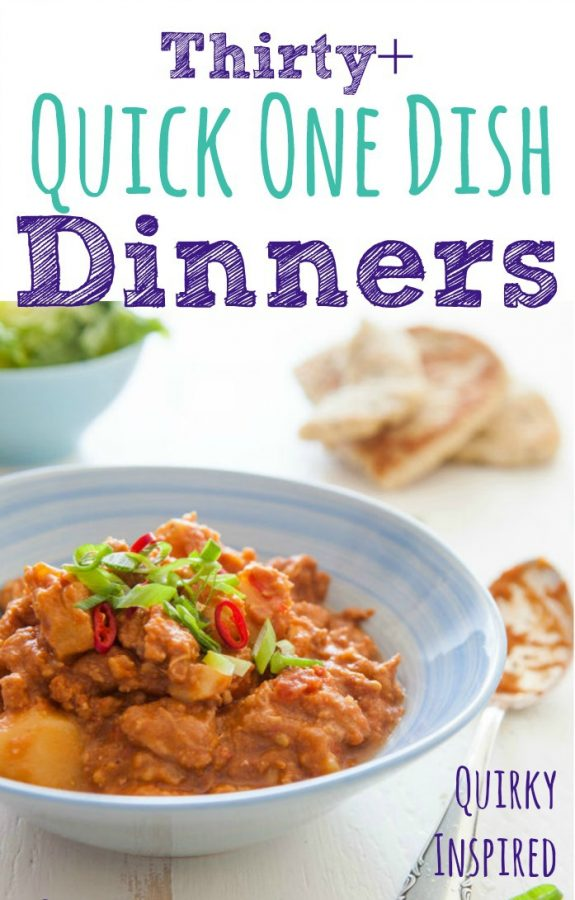 30+ Quick One Dish Dinners from Quirky Inspired
