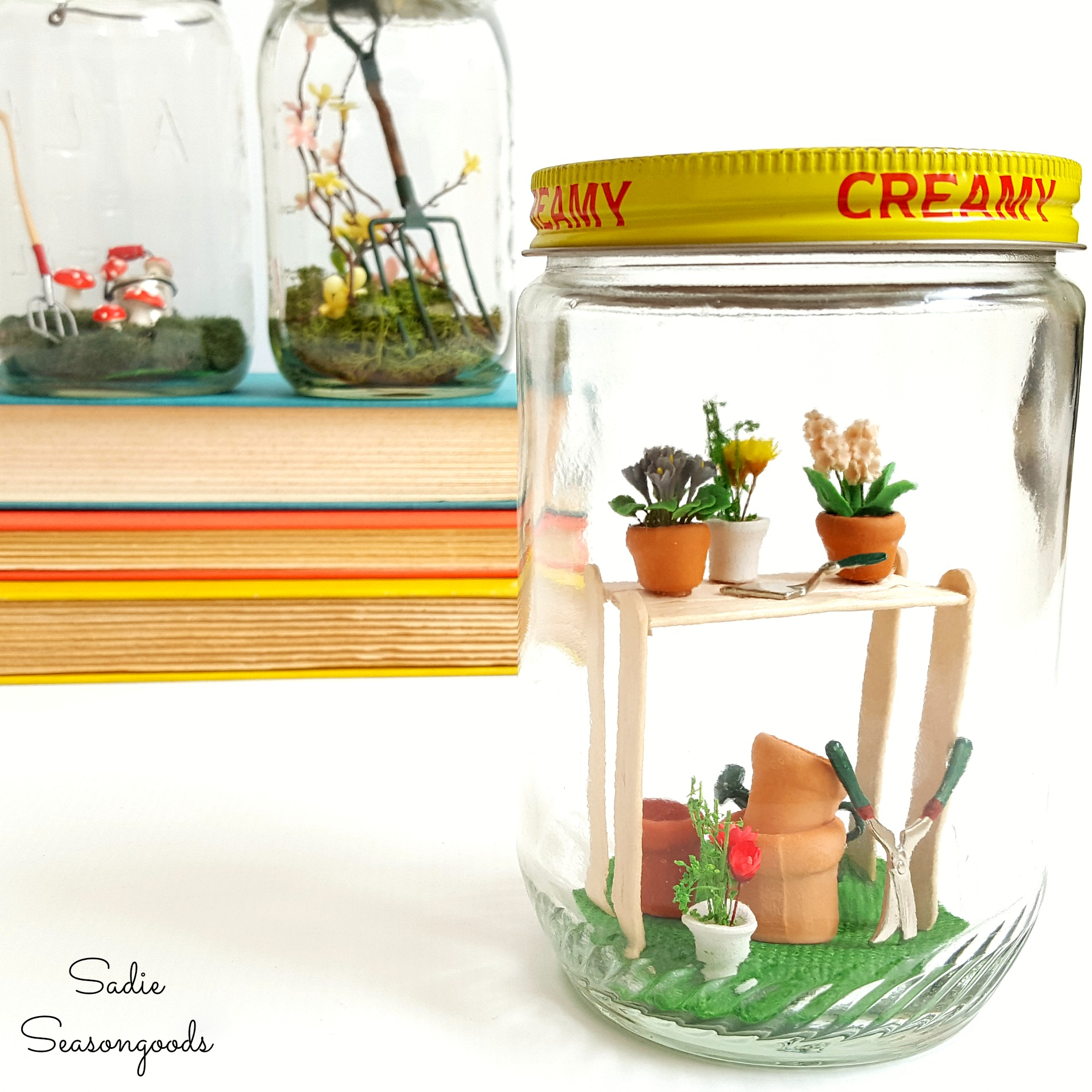 DIY Mini Garden Spring Jars from Sadie Seasongoods
