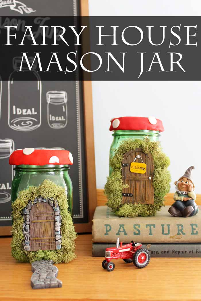 Fairy House Mason Jar from The Country Chic Cottage