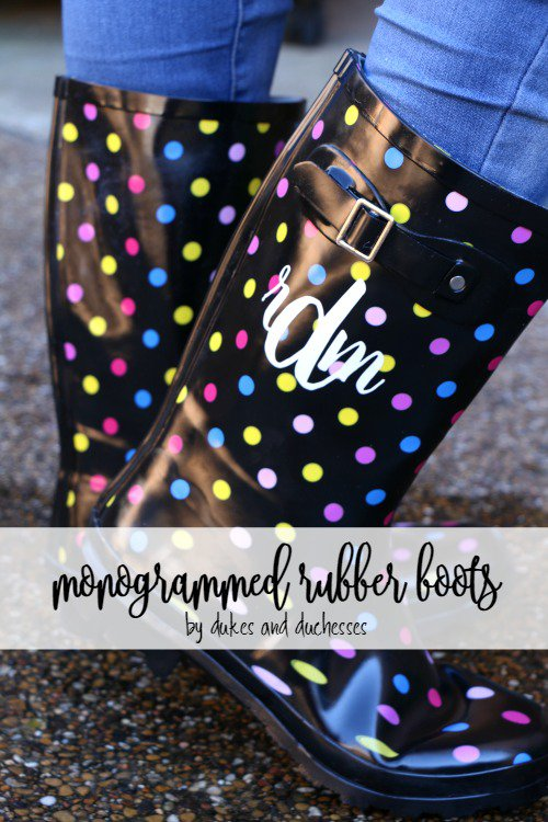 Monogrammed Rubber Boots from Dukes and Duchesses
