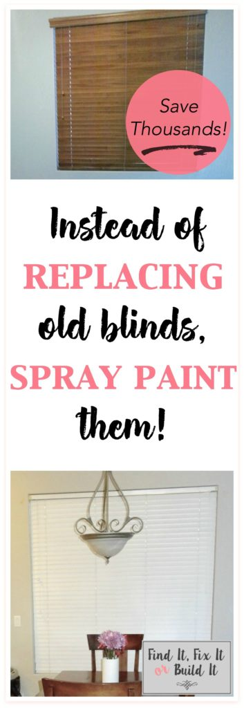 How to Spray Paint Window Blinds from Find It, Fix It or Build It