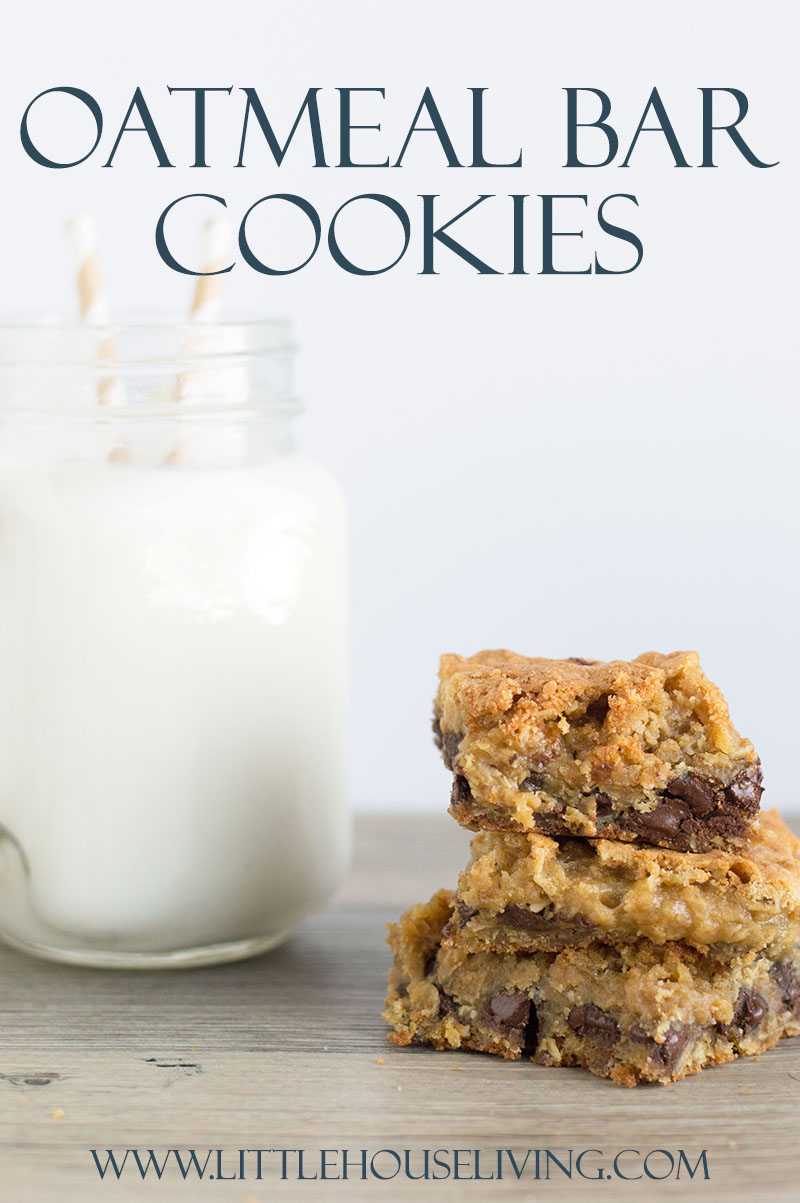 Oatmeal Bar Cookies from Little House Living