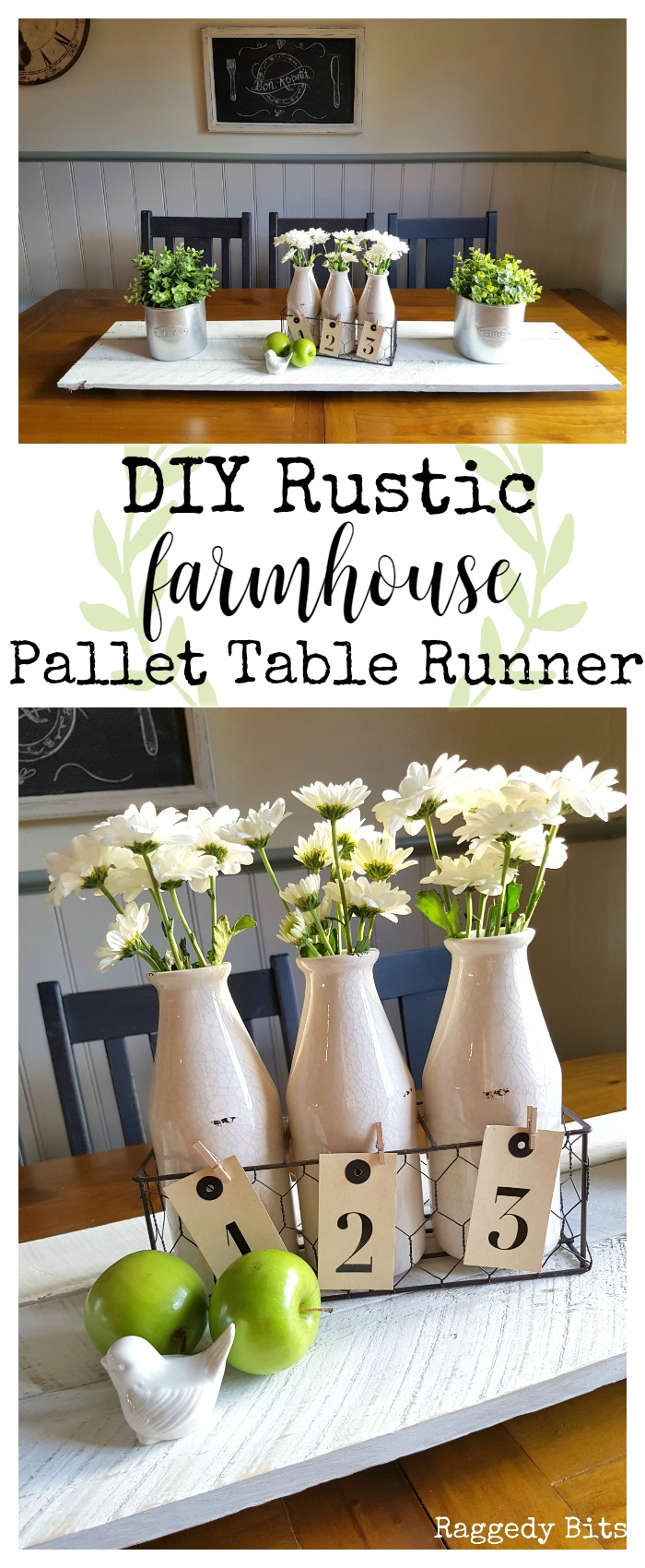 DIY Rustic Farmhouse Pallet Table Runner from Raggedy Bits