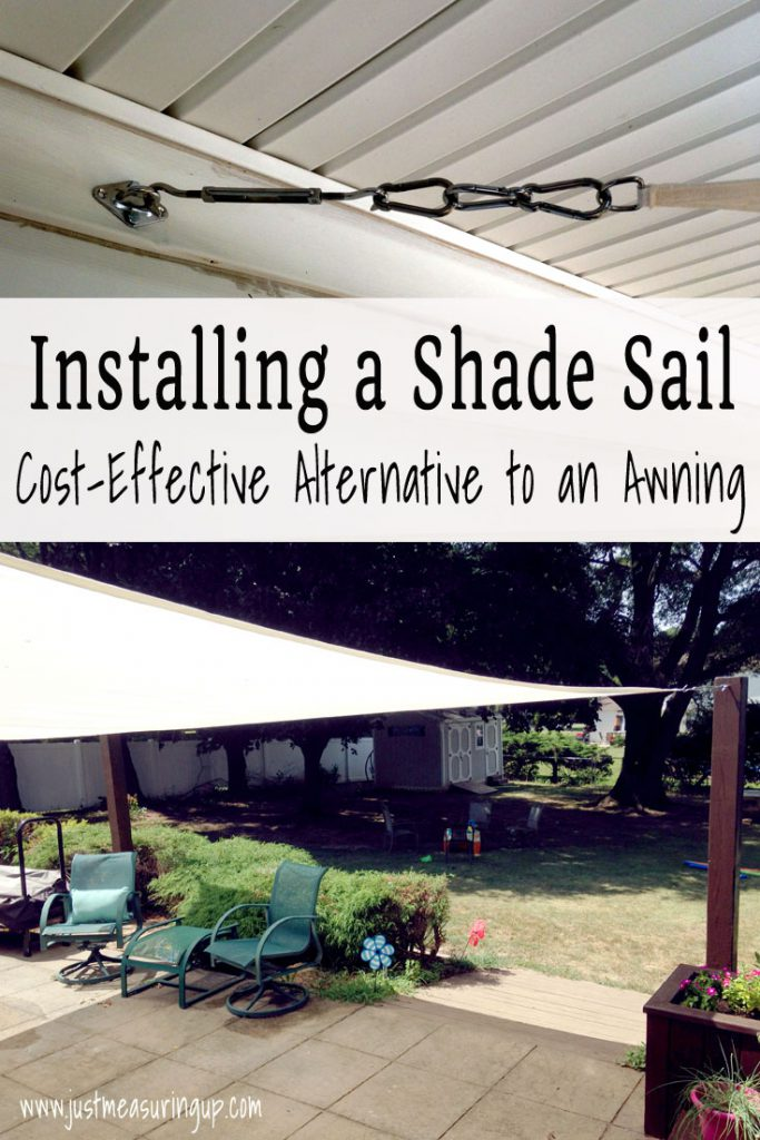 Installing a Shade Sail for the Patio from Just Measuring Up