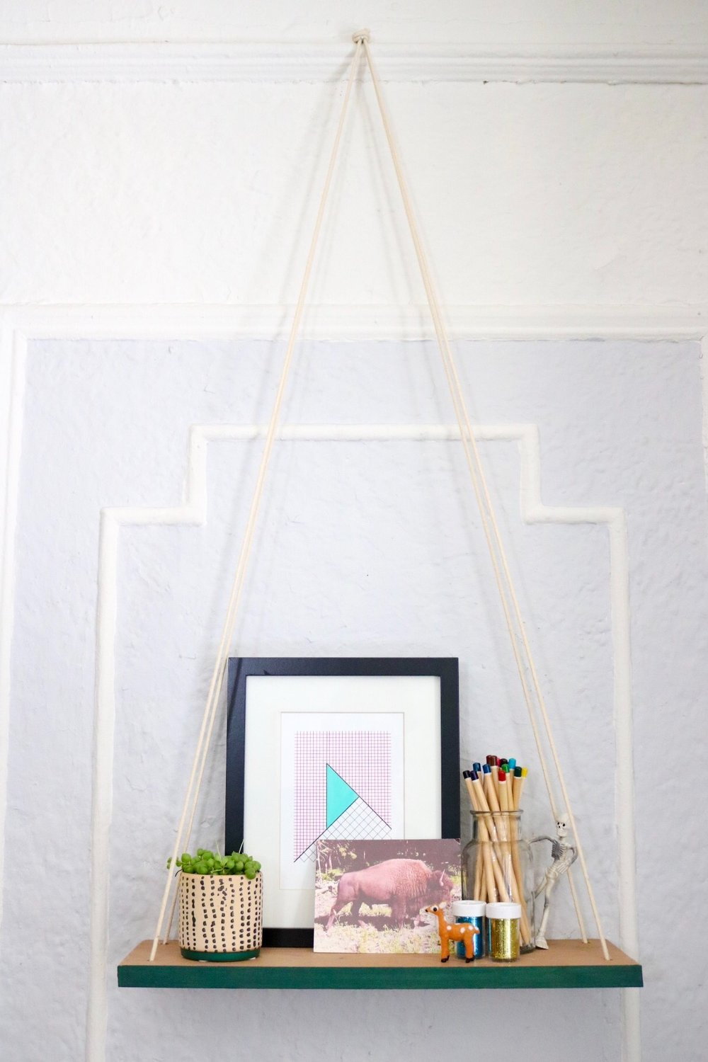 DIY Swing Shelf from Crafty Lumberjacks