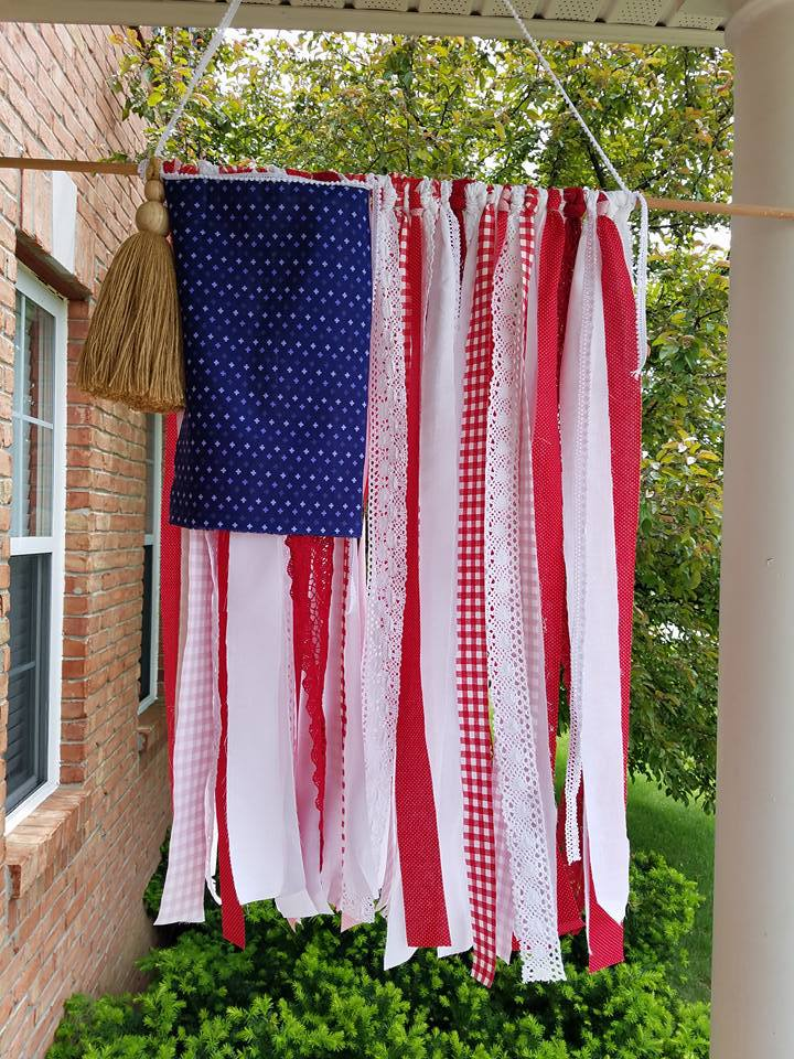 DIY Ribbon Flag from One Thousand Oaks