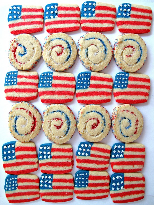 Spiral Sparkler and Flag Cookies from The Monday Box