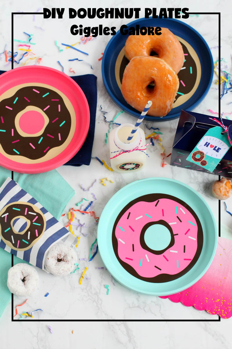 DIY Donut Plates from Giggles Galore