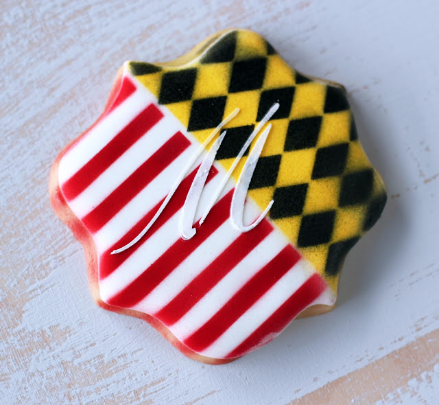 Maryland Flag Cookies from My Cookie Clinic