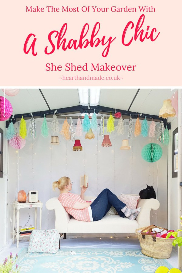 Shabby Chic She Shed Makeover from Heart Handmade UK