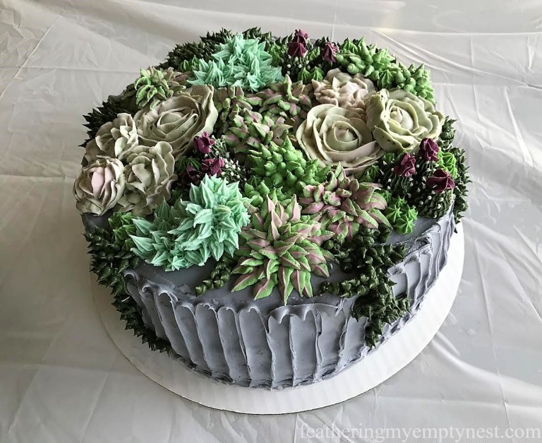 Succulent Cake from Feathering My Empty Nest