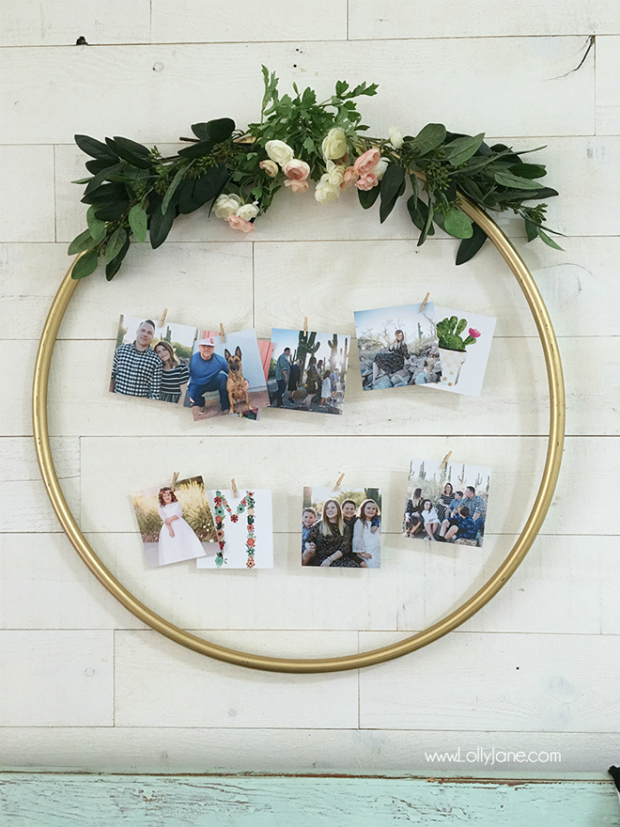 DIY Hula Hoop Display from Lolly Jane