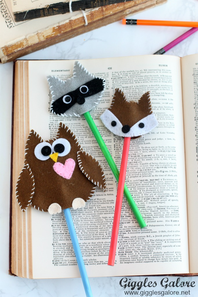 Adorable Felt Woodland Pencil Toppers from Giggles Galore
