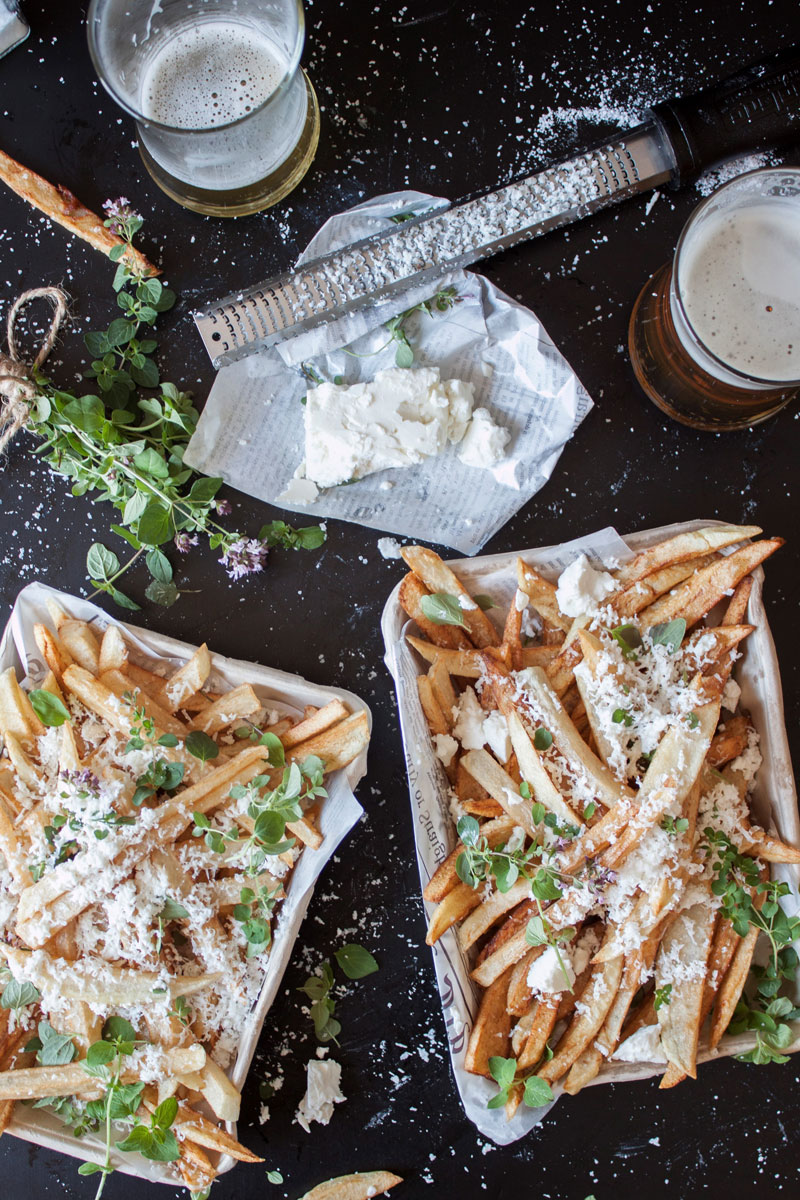 Hand Cut Fries with Feta Cheese and Oregano from Craft Beering