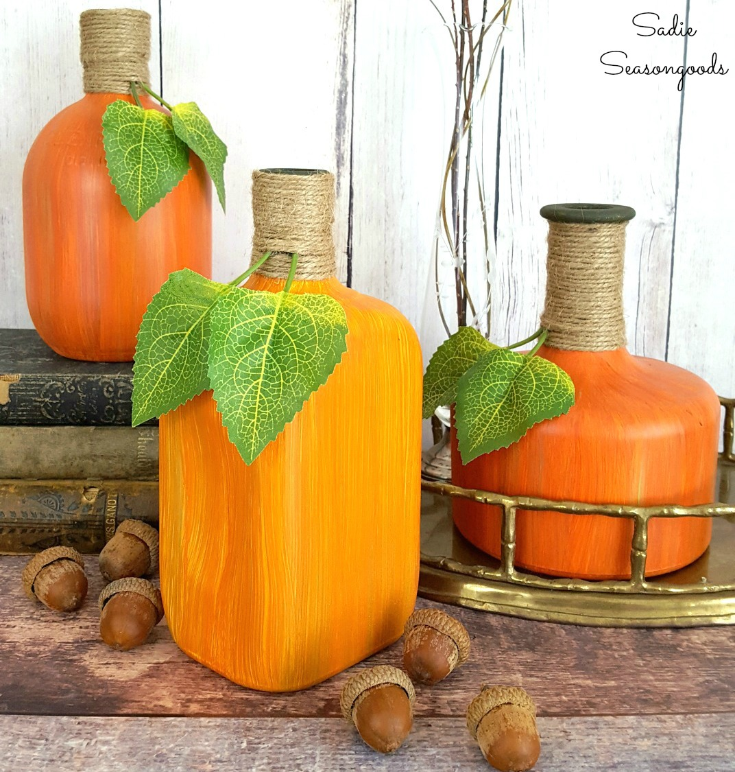 Bourbon Bottle Pumpkins & Gourds from Sadie Seasongoods