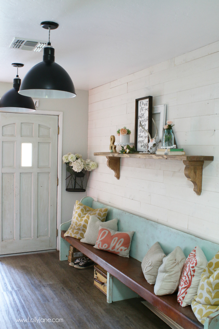 Peel and Stick Shiplap from Lolly Jane